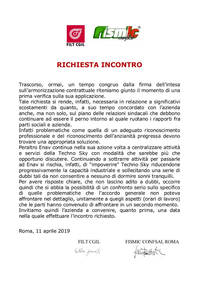 2019 04 11 – Comunicato FILT FISMIC