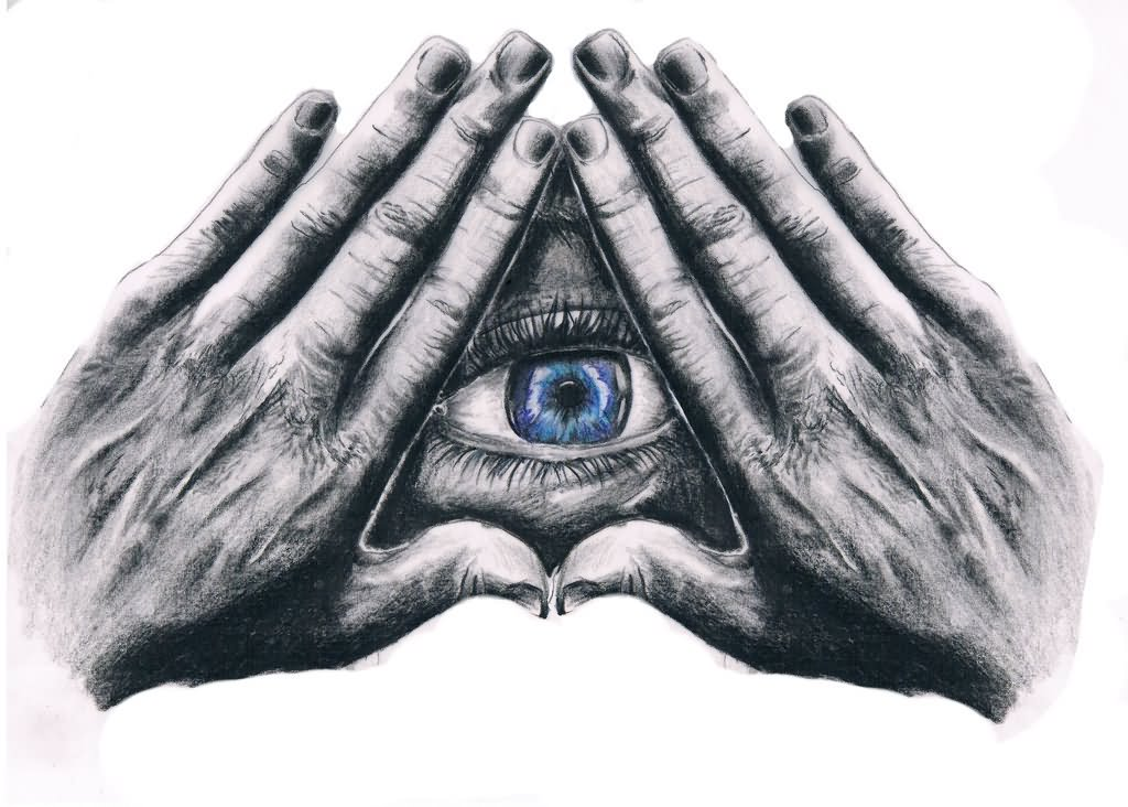 Grey-3D-Illuminati-Eye-With-Hands-Tattoo-Design-By-Mathias-Senfleben